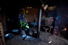 Frau kocht-Athiopien