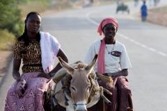Mit Esel unterwegs-Burkina Faso