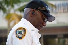 Ein Polizist in Miami Beach